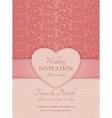 Modern wedding invitation pink vector