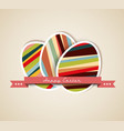 Paper card easter eggs vector
