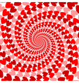 Design red striped heart helix movement background vector
