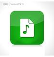 Music file icon vector
