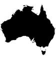 Silhouette map of australia vector