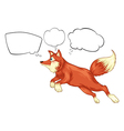 A fox in a jumping position with empty thoughts vector