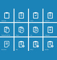Clipboard icons on blue background vector