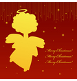Angel card square 15 vector