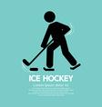 Ice hockey player symbol vector