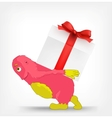 Funny monster gift vector