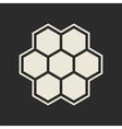 Hexagon icon vector