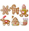Set of gingerbread vector