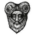 Horned deity vector