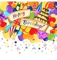 Celebration happy birthday vector