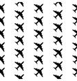 Plane symbol seamless pattern vector