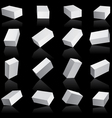 White boxes cube set vector