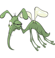 A green mosquito insect cartoon vector