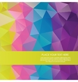 Bright rainbow background from mosaic triangles vector