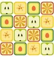 Seamless fruits pattern vector
