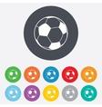 Football ball sign icon soccer sport symbol vector