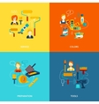 Painting icons flat vector