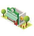 Isometric pizzeria vector