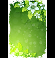 Grungy floral background vector