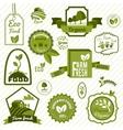 Green eco labels vector
