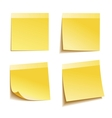 Yellow stick note vector