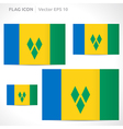 Saint vincent and the grenadines flag template vector