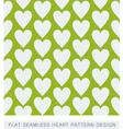 Green heart seamless background flat pattern vector