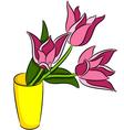 Tulips flowers vector