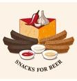 Image of beer snacks vector