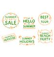 Summer design element vector