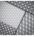 Set of several seamless carbon fiber patterns vector