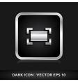 Zoom maximize icon silver metal vector