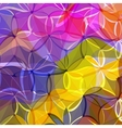 Abstract background of colored flowers vector
