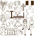 Collection of irish icons vector