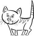 Cat or kitten for coloring book vector