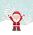 Santa claus with hands up vector