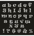 Handdrawn black-and-white alphabet vector