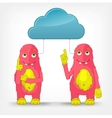 Funny monster cloud service vector