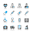 Healthcare icons reflection vector
