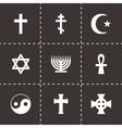 Religious symbols icon set vector