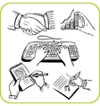 Work hands set vector