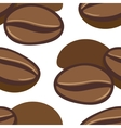 Hand drawn seamless pattern with coffee beans vector