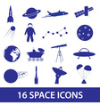 Space icon set eps10 vector