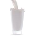 Milk splash in glass vector