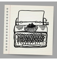 Sketchy of a typewriter machine vector