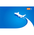 Airplane flight tickets air fly cloud sky blue tra vector