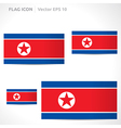 North korea flag template vector
