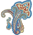 Traditional ornamental background paisley design vector