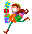 Woman with presents vector
