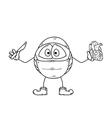 Surgery emoticon sketch vector